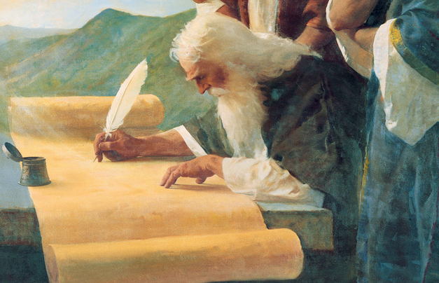 Moses writing